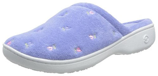 Isotoner Women's Signature Terry Floral-Embroidered Slippers