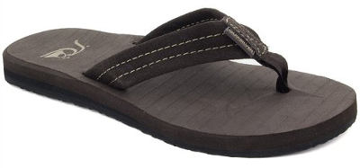 Quiksilver Men's Carver Suede 3-Point Flip Flop