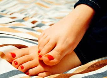 Healthy and pretty toenails
