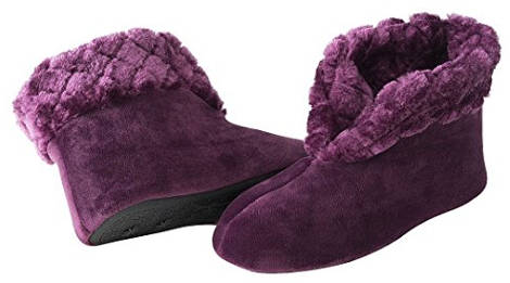 Dearfoams Women's Velour Booty Slipper