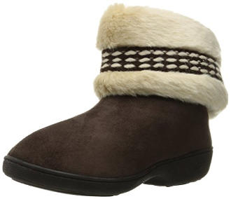 Isotoner Women's Erica Microsuede Boot Slippers
