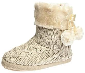 Airee Fairee Women's Faux Fur Lined Boot Slipper