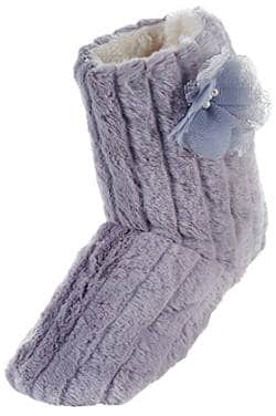 La Plage Women's Tall Plush Winter Boot Slippers