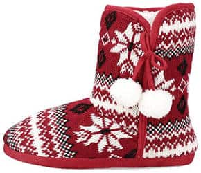 Mid Calf Snow Bootie Slippers