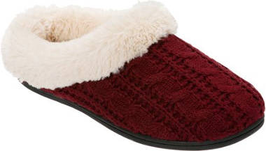Dearfoams Women's Cable Knit Clog Slipper