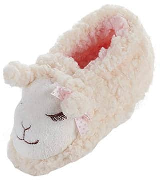La Plage Child Lamb Anti-Skid Cotton Bootie Slipper