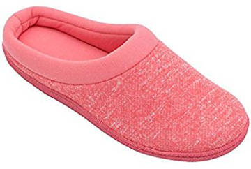 HomeTop Women's French Terry Lining Indoor Clog House Slippers