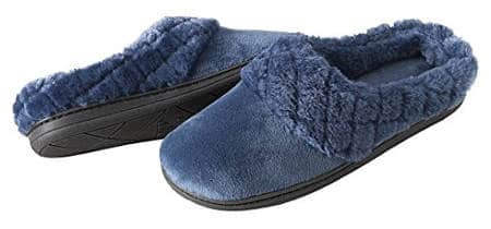 Dearfoams Women's Velour Clog Slipper with Cuff and Memory Foam
