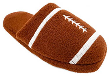 Sports Warm Fleece Scuff Slippers