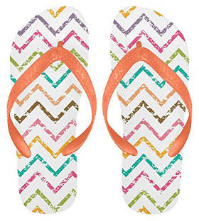 Colorful Chevron Beach Slippers by InterestPrint