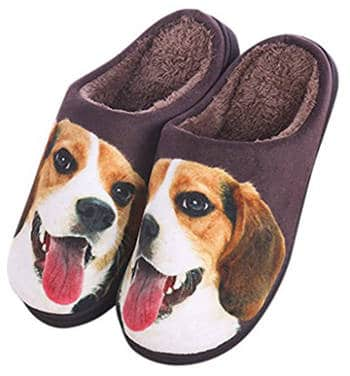 Agowoo Men's and Women's Dog Matching Couples Slippers