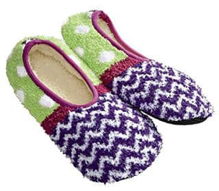 Super Soft Cozy Chevron Slippers by World's Softest