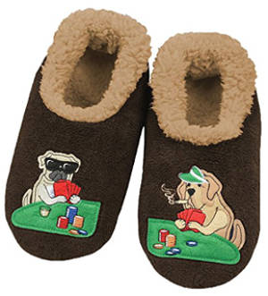 Snoozies Men's Mancave Classic Splitz Non-Skid Slipper Socks