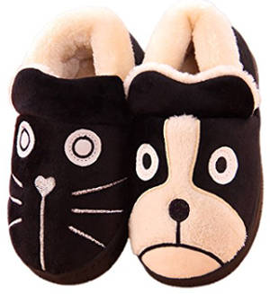MiYang Cute Cat and Dog Warm House Slippers