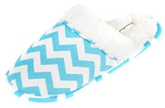 Leisureland Women's Cotton Flannel Chevron Design Slippers