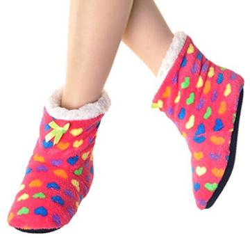 Angelina Fleece Lined Bootie Slipper Socks