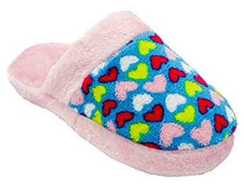 Girls Printed Plush Slippers by Zallies