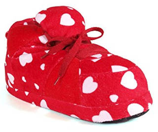 Happy Feet Standard Sneaker Slippers with hearts