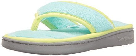 Dearfoams Women's Microfiber Terry Thong Slip on Slipper