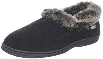 Acorn Women's Faux Fur Chinchilla Collar Slipper