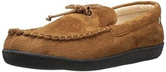Isotoner Men's Whipstitch Gel Infused Memory Foam Moccasin