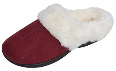 Beverly Rock Women´s Faux Fur Lined Plush Clog Slipper