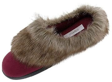 Vonmay Women´s Faux Suede Faux Fur Clog House Slippers