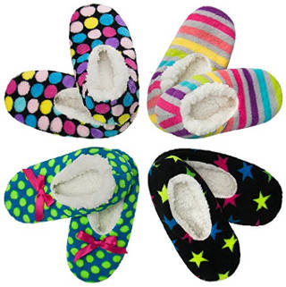 DG Hill 4 Pack Women's Fuzzy Slipper Socks