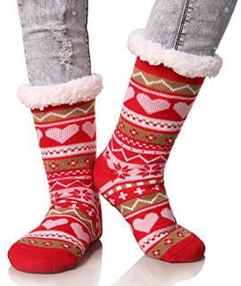 Dosoni Snowflake Knee High Slipper Socks