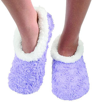 Snoozies Women's Sherpa Fleece Slipper Socks