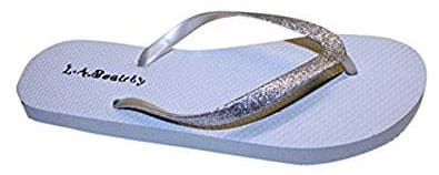Dona Michi Women's Flip Flops with Glitter Straps
