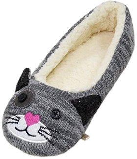 LA PLAGE Women's Winter Animal Home Slippers
