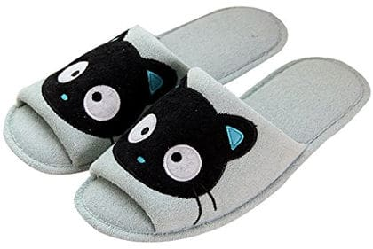 EURO SKY Black Cat Indoor Slippers