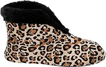Dearfoams Women's Animal Print Bootie Slipper