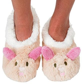 Snoozies Women's Bunny Slipper Socks
