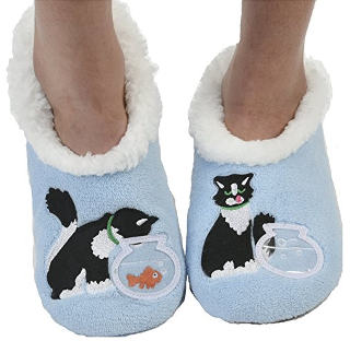 Snoozies Women's Classic Splitz Applique Slipper Socks