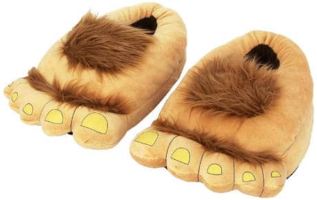 Furry Adventure Slippers by Think Geek