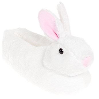 Plush Bunny Slippers by Silver Lilly