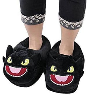Novelty Women's & Men's Warm Fuzzy House Slippers