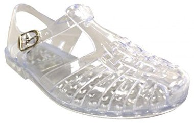 T-Strap Jelly Flat Sandals