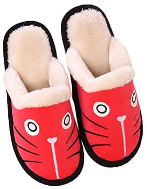 Zoe's Men's and Women's Cat Cotton Clog Slippers