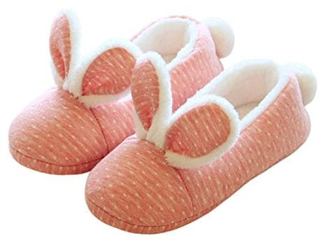Pink bunny rabbit slippers