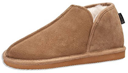 Nordvek Men´s Genuine Suede Sheepskin Wool Blend Slipper Booties