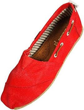 Ladies Canvas Slip-On Loafers by Farasion