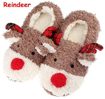 Reindeer Home Slippers for Women