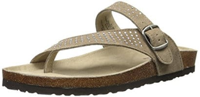 White Mountain Women's Coaster Toe Ring Sandal