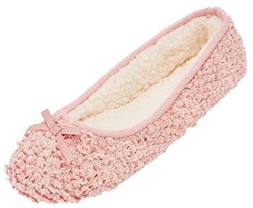 Mixin Women's Ballerina Velveteen Soft Sole Indoor Slippers