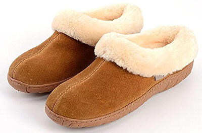 Oyangs Leather Sheepskin Slippers for Women