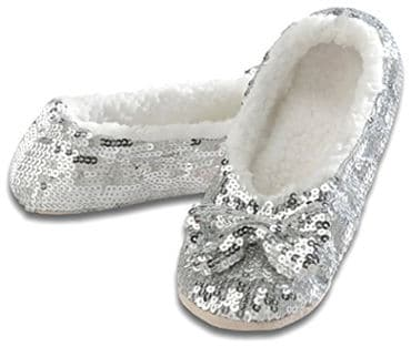 Snoozies Ballerina Bling Metallic Women's Sequin Slippers