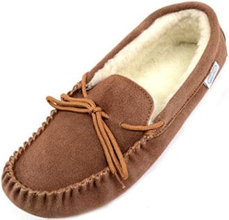 Snugrugs Men's suede sheepskin slippers